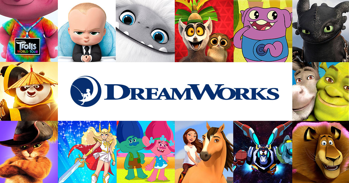 DreamWorks Animation movies and logo