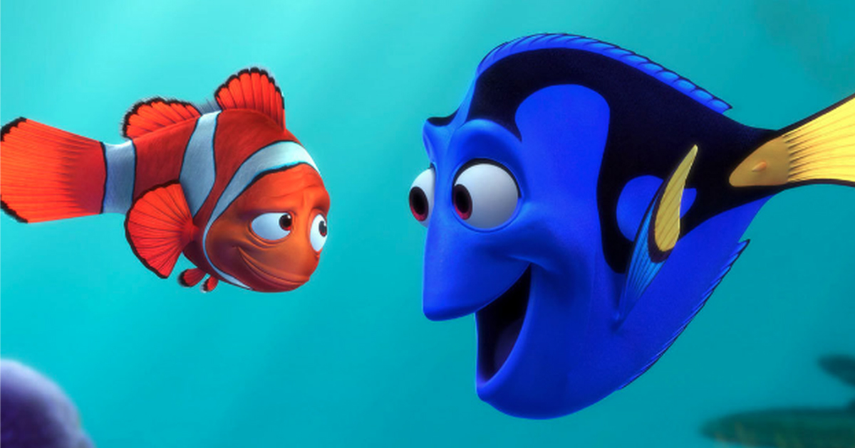 Marlin and Dory in Finding Nemo