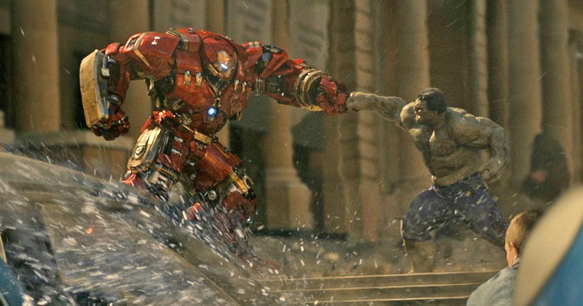 Iron Man fights the Hulk