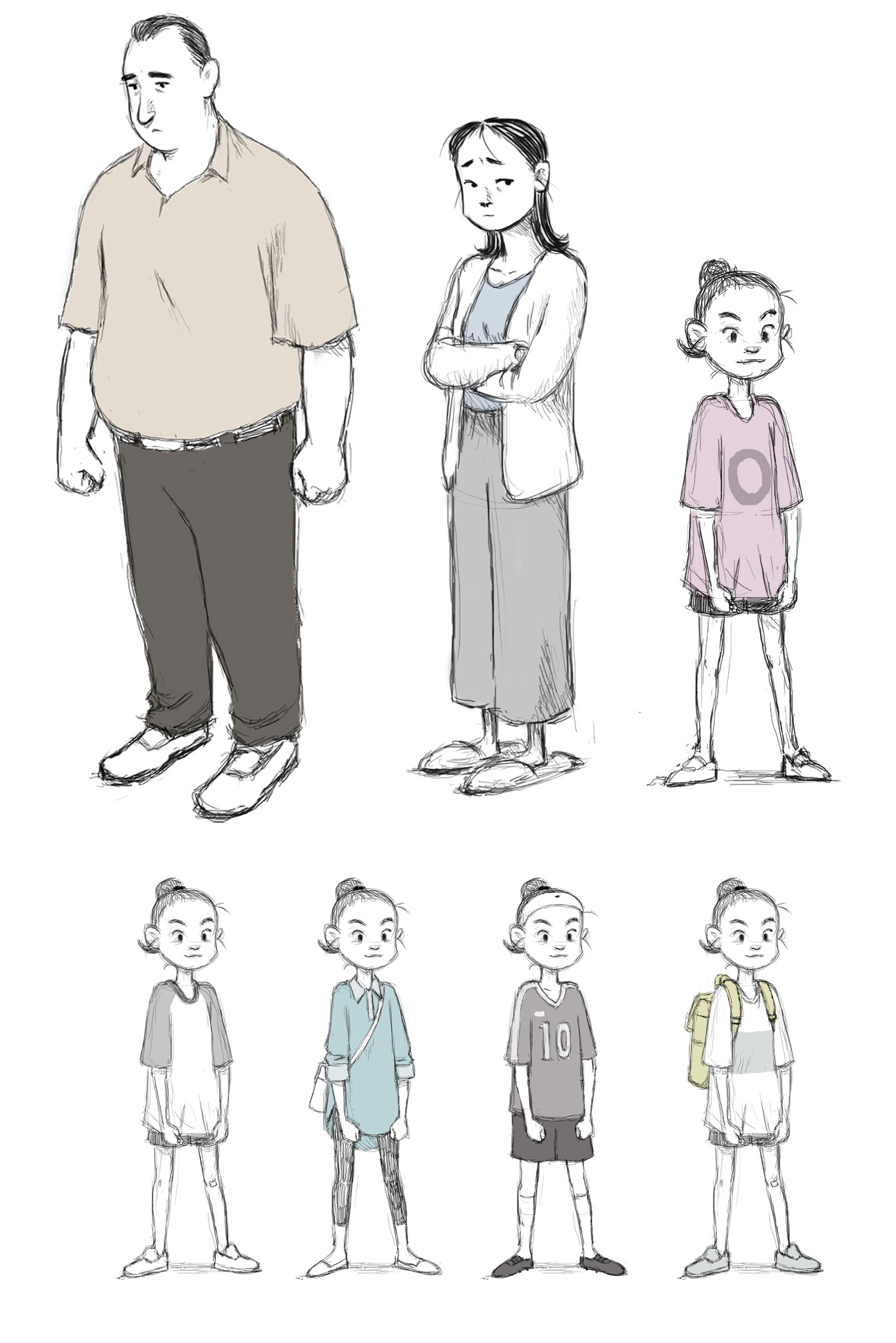 """Character and outfit designs from """"If Anything Happens I Love You."""""""